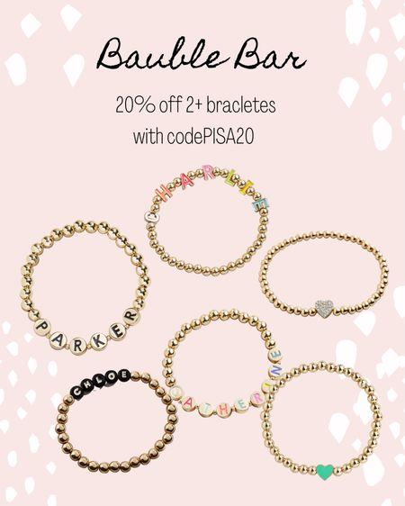 Bauble Bar. Bracelets.   #LTKunder50 #LTKsalealert #LTKstyletip