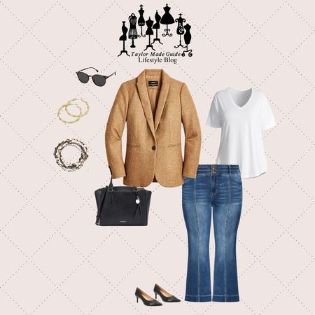 check out this outfit for the hybrid work week. It's a dressy business casual while you're working from home allows you to be appropriate just in case you have to go out you are already going to be prepared and ready to do business.  #LTKcurves #LTKstyletip #LTKworkwear
