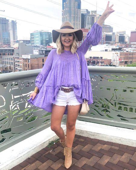 Free People lavender tunic on SALE! Wearing an XS.. Nashville style! http://liketk.it/2DZHj @liketoknow.it #liketkit