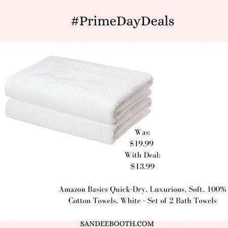 Get the fluffiest towels on sale during Amazon prime days!   #LTKsalealert #LTKunder50 #LTKhome