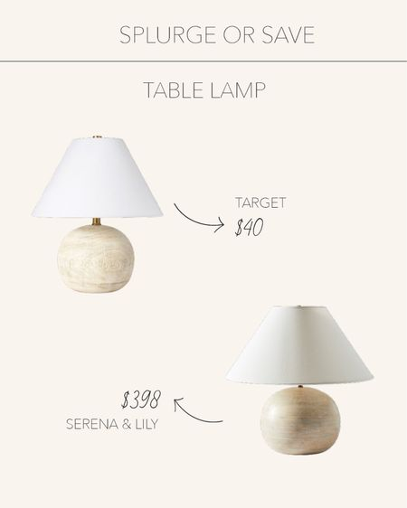 Splurge or Save | Beautiful table lamps to add a natural yet modern look to any nightstand or side table ✨  #LTKhome #LTKunder50 #LTKstyletip