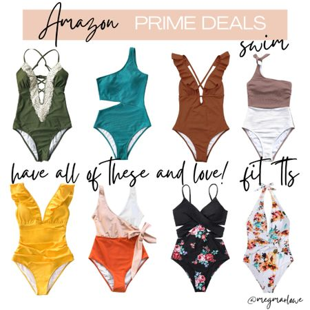 Amazon prime day deal swimsuits. I own all of these and they fit TTS. (I wear a small)  #LTKunder50 #LTKSeasonal #LTKswim