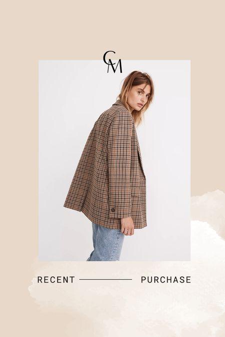 Madewell plaid blazer- on sale!    #LTKsalealert #LTKSale