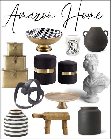 Amazon home, Amazon finds, home decor, shelf decor, Black and white decor, brass Decor, vase, pot, planter, tray, pedestal, bust, candle, coffee table decor, nightstand Decor, side table Decor, kitchen Decor, dining room Decor, stool, bench, velvet furniture  #LTKstyletip #LTKbeauty #LTKhome  #LTKstyletip #StayHomeWithLTK #LTKhome