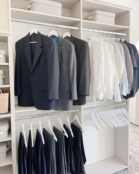 Shop these clean, white hangers! http://liketk.it/3kScS @liketoknow.it #liketkit #LTKmens #LTKhome @liketoknow.it.home