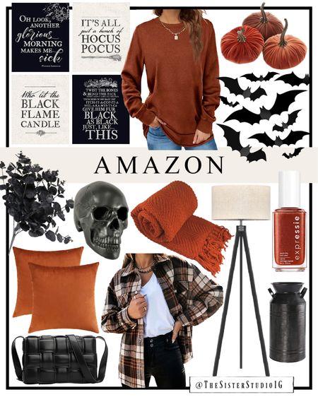 Amazon halloween and home decor + fall fashion   #LTKhome #LTKSeasonal #LTKstyletip