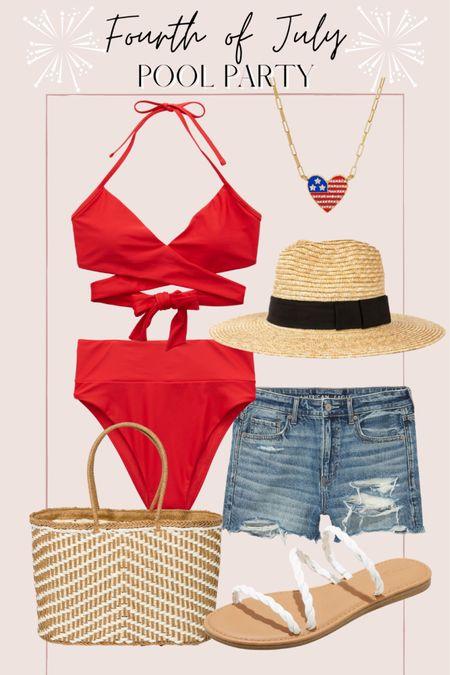 Fourth of July pool party outfit http://liketk.it/3hR2k @liketoknow.it #liketkit #LTKunder50 #LTKunder100 #LTKswim