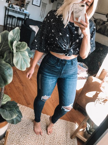 Normally a size 8, wearing a size 6 (they are a little snug but I like my jeans tighter) on  sale for $37!  http://liketk.it/2EwDZ #liketkit @liketoknow.it