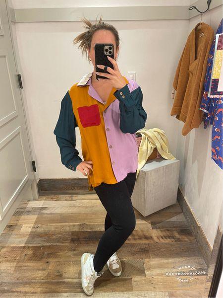 Farm rio for Anthropologie! Love this top! Wearing size medium for blousy fit    #LTKSeasonal #LTKstyletip #LTKworkwear