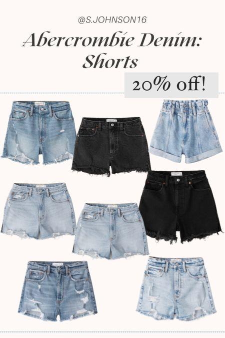 Abercrombie denim shorts- 20% off!  Denim shorts  #LTKDay #LTKsalealert #LTKunder50 http://liketk.it/3h4lq #liketkit @liketoknow.it