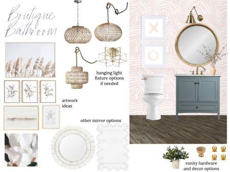 Feminine boutique bathroom design!     #LTKhome