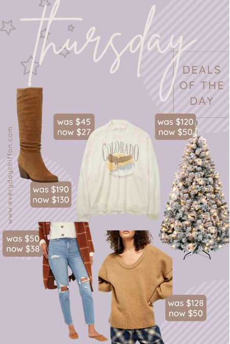 Holiday home decor, Walmart finds Christmas tree sale, holiday decor Scrunch boots, booties, DSW Fall outfits, old navy style High rise straight jeans Free people sweater, oversized sweater, graphic sweatshirt, loungewear, fall fashion, fall style  #LTKHoliday #LTKshoecrush #LTKSeasonal