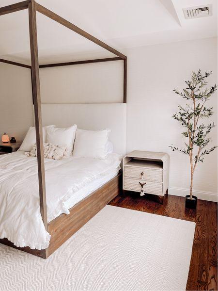 Master bedroom progress - rug is custom, linking the rest here!   #LTKhome