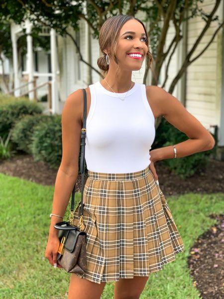 Target plaid tennis skirt Wearing size XS  Under $20  #LTKunder50 #LTKSeasonal #LTKstyletip