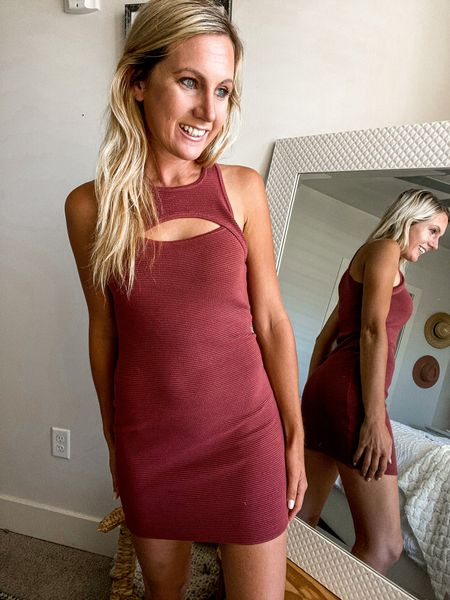 Fall cutout dress Mini TTS ABERCROMBIE DATE   #LTKSeasonal #LTKunder100 #LTKHoliday