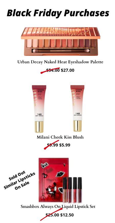 My #BlackFriday purchases. Amazing makeup and Cosmetics deal on Sephora and Ulta! http://liketk.it/32rN1 #LTKsalealert #LTKunder50 #LTKbeauty @liketoknow.it #liketkit