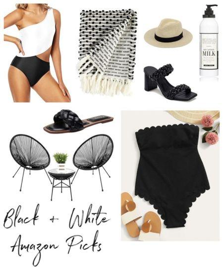 Amazon Summer, Amazon Black Swimsuit, Amazon White Swimsuit, Amazon Vacation, Amazon Summer Outfit, #LTKunder50 #LTKswim #LTKstyletip   http://liketk.it/3l8mY @liketoknow.it #liketkit