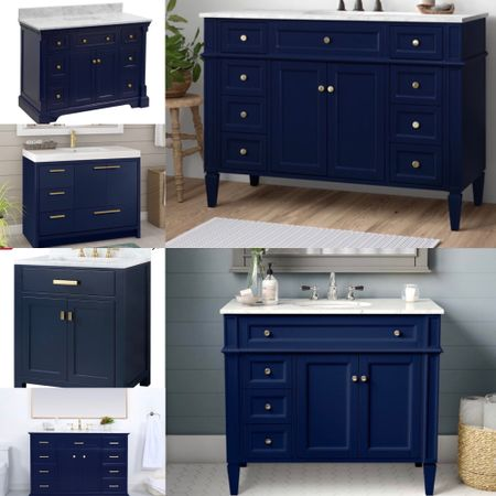 Memorial Day Sale, Save Big — these  chic navy blue vanities will fresh up your space in no time.   #LTKhome #LTKsalealert