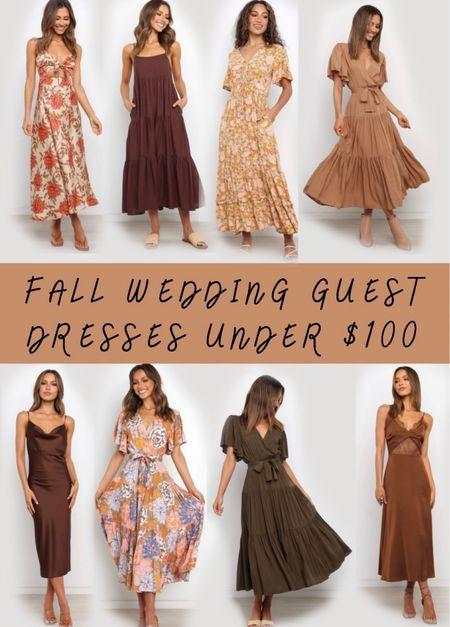 BRITTANYH for 20% off 🍂 . . . Fall, fall wedding, fall wedding guest dress, fall dress, petal and pup, maxi dress, midi dress   #LTKSeasonal #LTKunder100 #LTKwedding