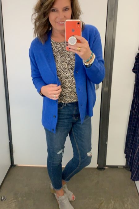 Leopard 🐆 and blue? Yaass!!! http://liketk.it/2Fefb @liketoknow.it Shop your screenshot of this pic with the LIKEtoKNOW.it shopping app #liketkit #LTKunder100 #LTKstyletip #LTKsalealert #LTKshoecrush #LTKtravel #LTKworkwear #LTKunder50