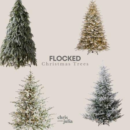 Favorite Flocked Faux Christmas Trees   #LTKhome #LTKHoliday