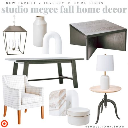 Threshold x Studio McGee at Target — New for Fall! . . . . . Threshold // threshold Target // Target finds // Target home // Target decor // studio mcgee // side table // accent table // coffee table // lighting // accent chair // dining chair // arched decor // rainbow decor // table // dining table // lights lamp // book ends // marble decor // marble book ends // marble box // home decor // pottery // ceramic // ceramics // ceramic vase // neutral decor // pillows // tray // living room // dining room // family room // library // modern farmhouse // industrial // Scandinavian   #LTKhome #LTKunder100 #LTKunder50
