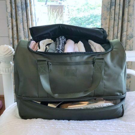 🚨Big sale alert!🚨I've been trying hard to be a light packer for weekend getaways and this weekend I finally did it! This bag has helped me get there (I practiced all summer with it 🤓🙋🏼♀️) with my clothes in the top and my shoes and toiletries in a separate compartment on the bottom. I love a system, I love things that make sence! And you will not believe the price of this duffel right now! I think I would've paid $200 for it because I needed it, I like the way it looks and it's high quality. The walls of the bag are cushioned and the zipper... wish you could feel it. It's 20% off right now so you can get it for $54.40!  More color options, too! The whole site (excluding sale items) is 20% off with the code THISIS31 at checkout. If you need a weekend bag, I've posted a shortcut to it in my profile @tellittoyourneigbor. Just look look for linktr.ee and tap on it or take a screenshot and use the @liketoknow.it app. Thank you! http://liketk.it/2YvvJ #liketkit #LTKunder100 #LTKtravel #LTKsalealert @liketoknow.it.home #weekendbag #duffelbag #weekender #travel #ltkfall