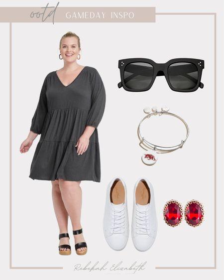 Plus size gameday outfit inspo ❤️🖤🏈 #rebekahelizstyle  #LTKstyletip #LTKunder50 #LTKcurves