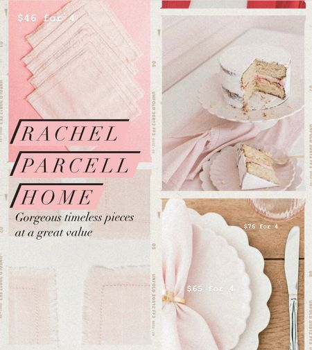 I was really blown away by the new Rachel Parcell home collection. I love the way these plates layer- the small and large scallops- and the napkins are a gorgeous texture next to them. I will monogram these and use them all year!   #LTKhome #LTKunder100 #LTKunder50