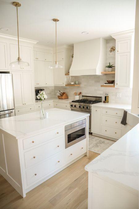 Kitchen white and gold   #LTKhome