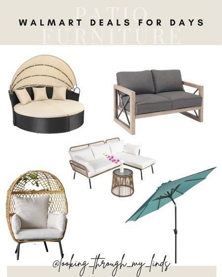Outdoor furniture   patio furniture   outdoor umbrella   egg chair   patio set   cabana   outdoor sofa  #LTKsalealert #LTKhome #LTKunder50