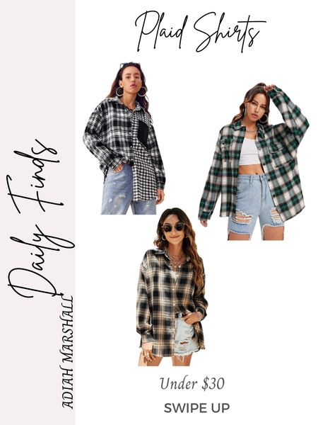 Oversized Plaid shirts for fall  Under $36 I ordered a size small   #LTKstyletip #LTKSeasonal #LTKunder50