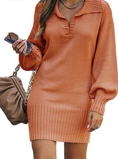 Must have sweater dress for Fall🍂🍁🎃 #ltkfall #fallfashion #falloutfitideas #pumpkinspiceseason #sweaterdress #amazonfashion #founditonamazon #gotitonamazon #amazonprime #affordablefashion #casualoutfitideas #ootdinspo #ootdfashion #ltkfashion   #LTKunder50 #LTKstyletip #LTKworkwear
