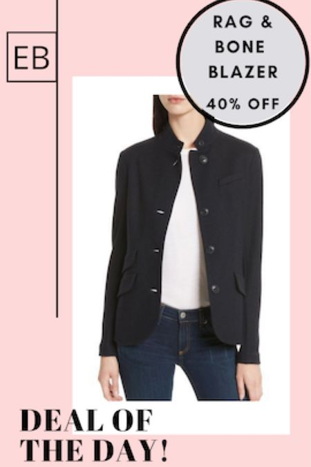 Navy structured knit blazer.  Classic versatile closet essential is 40% off.  Size down.  http://liketk.it/3dLKn #liketkit @liketoknow.it #LTKworkwear #LTKsalealert #LTKstyletip Screenshot this pic to get shoppable product details with the LIKEtoKNOW.it shopping app