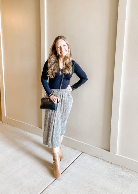 Love this bodysuit from Express! So easy to wear under skirts without any bulk or weird lines. Wearing an XS although I would try a S.   #LTKunder50 #LTKworkwear #LTKstyletip