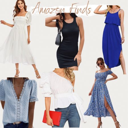 Amazon finds, found it on Amazon, Amazon fashion, summer style, summer outfit, vacation outfit, vacation style, floral dress, bodycon, wedding guest dress, blouse, dress, dresses, midi dress, summer outfits, summer dresses, white dresses  #LTKwedding #LTKunder100