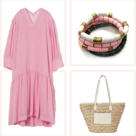 Pink please! An oversized caftan in the summer is hard to beat and these accessories are just asking for a beach trip! @liketoknow.it #liketkit #LTKunder50 #LTKunder100 #LTKtravel http://liketk.it/3edyc