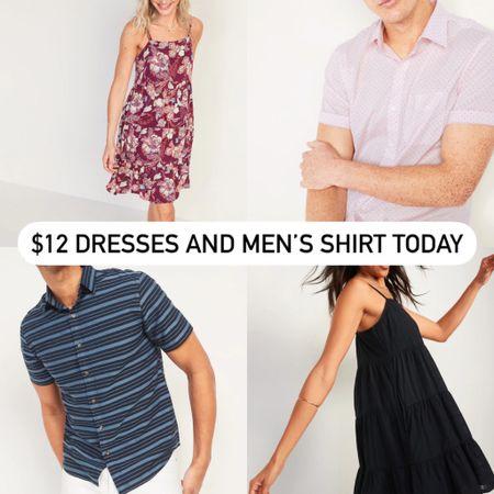 $12 women's dresses and men's dresses today @liketoknow.it #liketkit http://liketk.it/3hs1v #LTKunder50 #LTKsalealert