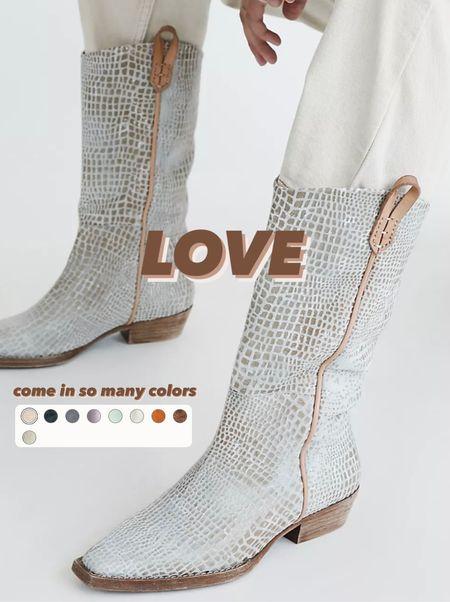 Free People mid calf western boots / cowgirl boots / fall trend   #LTKshoecrush #LTKfit #LTKSeasonal