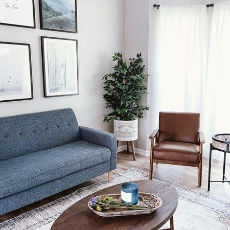 Sofa, accent chair, rug, coffee table, plant   #sofa #accentchair #rug #coffeetable #plants #wayfair #overstock #livingroom #homedecor  #LTKhome #LTKsalealert #LTKstyletip