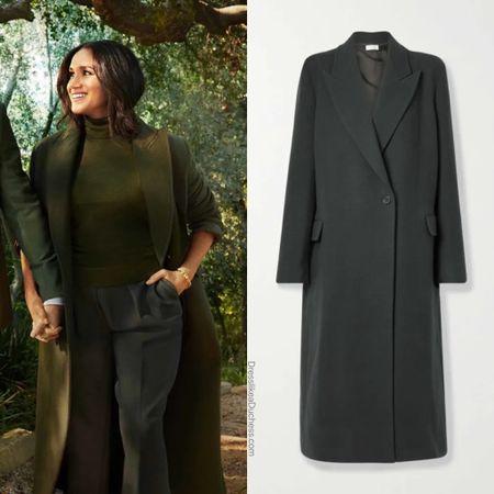 Meghan's coat believed to the Row Lance #winter #fall #longcoat   #LTKSeasonal #LTKstyletip