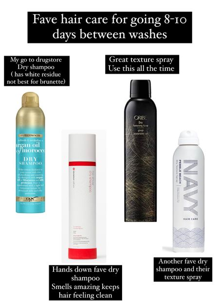 Dry shampoo and texture spray for volume and go more days between washes.    #LTKfamily #LTKunder50 #LTKbeauty