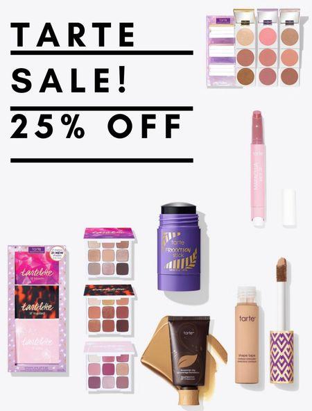 TARTE SALE! 25% off sitewide 💜   #LTKbeauty #LTKunder50 #LTKsalealert