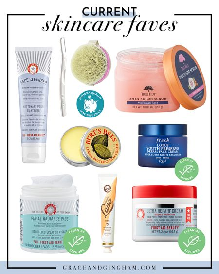 I've been trying out a ton of new skincare products recently, and I've been absolutely loving them! I use my EcoTools Dry Brush before I shower to increase circulation, the Tree Hut Sugar Scrub (which smells divine) to exfoliate in the shower, my FAB products to care for my face (I recently overexfoliated with a face brush and it wreaked absolute havoc on my skin), and my Fresh Lotus Night Cream for a youthful glow! ✨  #LTKunder50 #LTKbeauty
