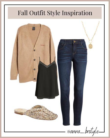 fall outfit, fall style, oversized cardigan, mules on sale #anna_brstyle  #LTKsalealert