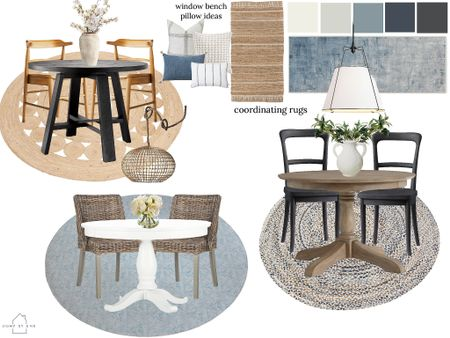 Three breakfast nook set ups! Round dining room table designs featuring Target and pottery barn furniture!   #LTKhome