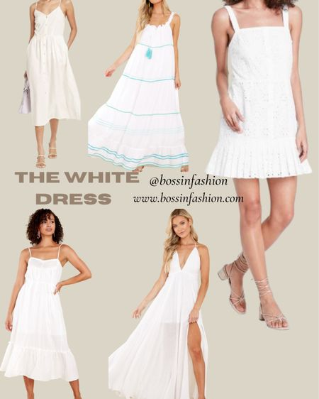 White dress summer! Shop some of my favorites! #white #whitedress #maxidress #dress #ootd #summerwhite #summertime #LTKunder100 #LTKstyletip Follow me on the LIKEtoKNOW.it shopping app to get the product details for this look and others http://liketk.it/3hwii #liketkit @liketoknow.it