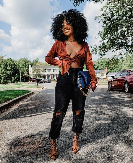 Abercrombie jeans  high waist jeans  high rise jeans  denim  denim bags  chain bags  black jeans  distressed denim  forever 21  crops tops  cropped blouse      #LTKunder100 #LTKunder50 #LTKsalealert