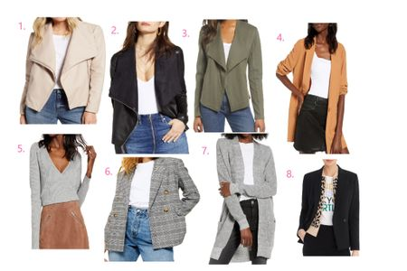 I'm loving all these fall blazers and jackets on the #nsale 😍 y'all know I love some bright colors, but I am definitely in the market for some basics! I especially love the boyfriend blazer & the faux leather moto jackets!! Shop your screenshot of this pic with the LIKEtoKNOW.it app http://liketk.it/2DrZM #liketkit @liketoknow.it #LTKsalealert #LTKunder100 #LTKunder50 #LTKworkwear