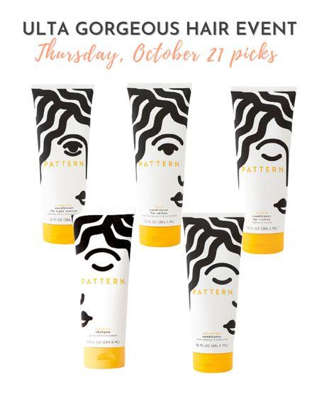 Pattern moisturizers and shampoos  are on sale 10/21 during the Ulta Gorgeous Hair Event.  #LTKbeauty #LTKsalealert
